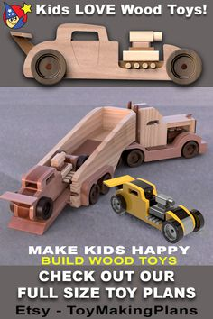 All You Need Is, Router Table Plans, Wood Toys Plans, Wooden Projects, Lego Technic, Peterbilt, Woodworking Plans, Wooden Toys, Hot Rods