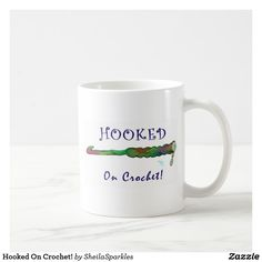 Start your day off right with a custom mug! Sip from one of our many Crochet coffee mugs, travel mugs and tea cups offered on Zazzle. Crochet Hooks, Knit Crochet, Custom Mugs, Tea Cups, Coffee Mugs, How To Get, Sewing, Knitting, Tableware