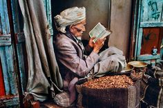 Yemen. Photo credit: Steve McCurry from photos of people reading series