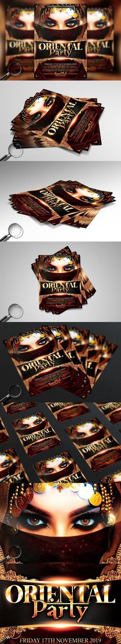 Oriental Party   Gold Flyer Template. Flyer Templates
