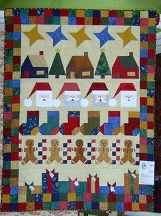 This free Christmas quilt pattern is made up of six horizontal rows, each created from different quilt blocks in varying sizes. Description from pinterest.com. I searched for this on bing.com/images