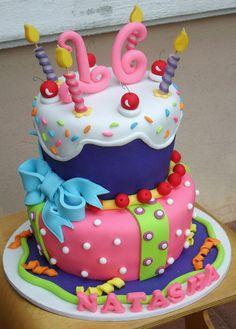 Sweet 16th Surprise Cake