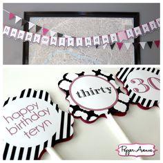 Black & Pink 30th Birthday Party