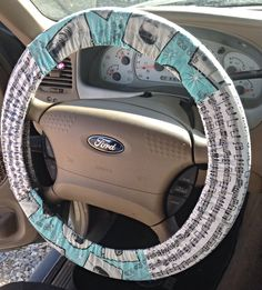 Sing it to me baby! http://emeraldraindesigns.storenvy.com/products/8323053-elvis-music-notes-steering-wheel-cover