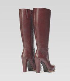 Langschaftstiefel Eva bordeaux #poilei #stiefel #boots #plateau #bordeaux #boots #collectionssaw15  #winter #autumn