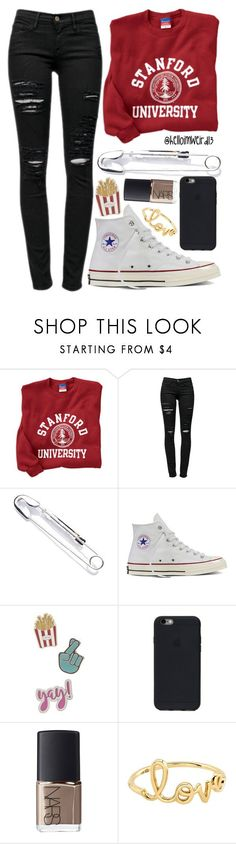 """shine bright"" by helloimweird13 ❤ liked on Polyvore featuring Frame, Cheap Monday, Converse, Red Camel, NARS Cosmetics and Sydney Evan"