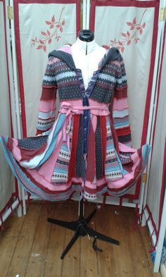 Upcycled Hippy Sweater Coat Elven Pixie by theelventextiletree