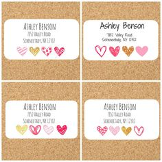 Cute Return address labels with hearts ,mailing labels, return address stickers, address labels, add Print Address Labels, Mailing Address Labels, Wedding Address Labels, Custom Address Labels, Return Address Stickers, Return Address Labels, Ashley Benson, Pink Themes, Label Paper