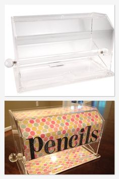 This is one of the coolest things I've ever seen! A pencil dispenser made out of a straw dispenser!