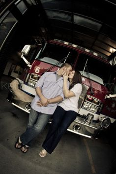 Fire house engagement session