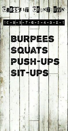 Crossfit Countdown WOD Great at-home workout. No equipment needed. Fitness Workouts, Wod Workout, Insanity Workout, No Equipment Workout, Metabolic Workouts, Workout Kettlebell, Boxing Workout, Crossfit Workouts At Home, Yoga Pilates