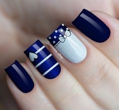 Pin on Uñas pies Pin on Uñas pies Fabulous Nails, Perfect Nails, Gorgeous Nails, Pretty Nails, Disney Acrylic Nails, Best Acrylic Nails, Classy Nails, Stylish Nails, Navy Nails