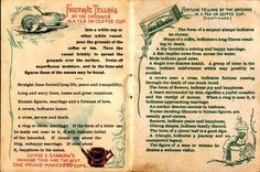Fortunes in the Coffee Grounds?   1897 Chase & Sanborn promotional booklet