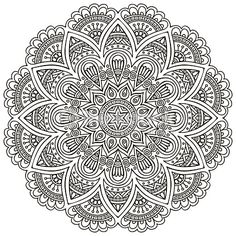 Find Mandala Round Ornament Pattern Vintage Decorative stock images in HD and millions of other royalty-free stock photos, illustrations and vectors in the Shutterstock collection. Mandala Art, Mandalas Painting, Mandalas Drawing, Mandala Coloring Pages, Mandala Pattern, Coloring Book Pages, Dot Painting, Zentangles, Celtic Mandala