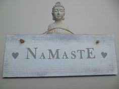 Rustic Home Sign, Wooden Yoga Sign, Home Decor, Vintage Style Home Decor, Yoga Signage, Gift,Custom wood Sign, Namaste sign,Spiritual Sign