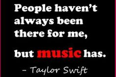 Inspirational Taylor Swift Quotes about music