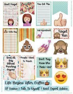 http://www.victoriathatcher.com/blog/emoji-fun-planner-printables
