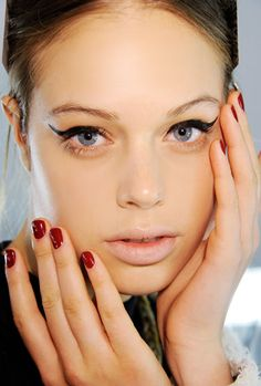 Classic nails and classic eyes... Fall 2012 seems to be all about bold classic styles, from head toe