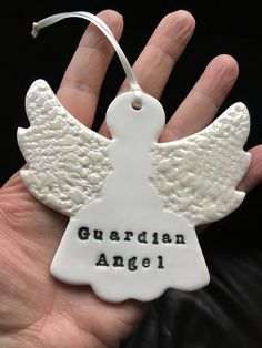 A personal favourite from my Etsy shop https://www.etsy.com/uk/listing/556500180/porcelain-guardian-angel-christmas