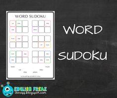 English Freak   Blog o nauczaniu języków obcych: WORD SUDOKU - SŁOWNE SUDOKU (PRINTABLES)