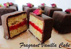 Raw Vanilla Raspberry Rose Cake Bites Recipe by Fragrant Vanilla Cake