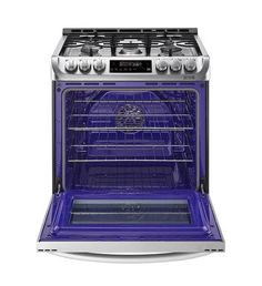Shop LG 5-Burner 6.3-cu ft Slide-in Convection Gas Range (Stainless Steel) (Common: 30-in; Actual 29.875-in) at Lowes.com