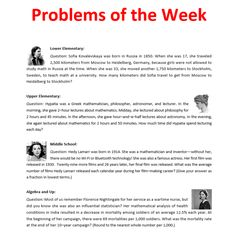 Problems of the Week - Mar 14