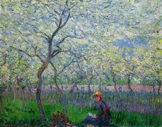 An Orchard in Spring, 1886. Claude Monet