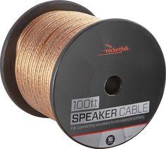 Rocketfish™ - 100' Speaker Wire - 16AWG - Gold, RF-G1151