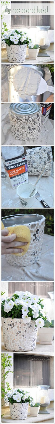 Une idée sympa pour customiser un vieux pot en zinc ou une boîte de conserve.