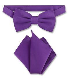 c8d2ad3d44c6 Pre Tied Bow Ties | Mens Pre Tied Bow Tie Selection. Purple Indigo Bow Tie  Handkerchief Set ...