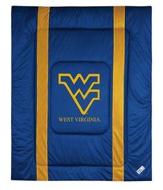 West Virginia Mountaineers Sideline Bedding Comforter Cover