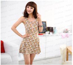 Floral Print Skater Dress! $11.45 http://www.cooluniqueclothing.com/floral-print-skater-dress/  #floral #dress #cute