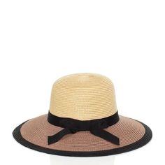 summer beach hat!!  kate spade | color block straw sunhat
