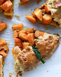 parmesan crusted butternut galette with fried sage I http://howsweeteats.com