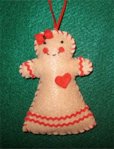 The Trouble with Crafting: Stashbustin' Ornaments Pt 1: Gingerbread Girl