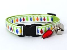 Pretty Christmas cat collar