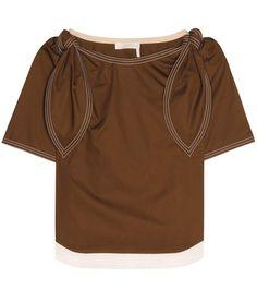 CHLOÉ Embellished Cotton Top. #chloé #cloth #tops