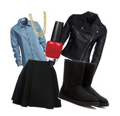 """""""Automn7"""" by lenaleblanc on Polyvore featuring mode, Vale, Avelon, New Look, CC SKYE, UGG Australia et OPI"""