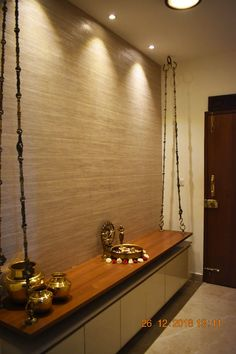 Find home projects from professionals for ideas & inspiration. Apartment @ KK nagar, Chennai by Uncut Design Lab Pooja Room Door Design, Foyer Design, Home Room Design, House Design, Design Kitchen, Home Entrance Decor, Entrance Foyer, Entryway Decor, Apartment Entrance