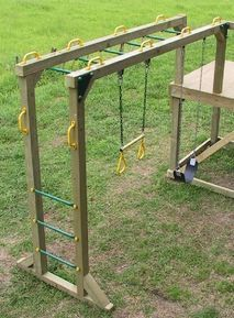 kids diy monkey bars...for my A! She loves swinging from bars :)