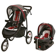 2015 Graco Fastaction Fold Jogger Click Connect Travel System, Chili Red - $255.99