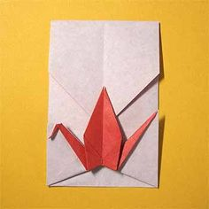 折り紙で鶴のポチ袋(お年玉袋)の折り方!正月に簡単な作り方 | セツの折り紙処