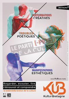 KuB Kultur Bretagne Le webmédia breton de la culture  Direction Artistique de la campagne de lancement .