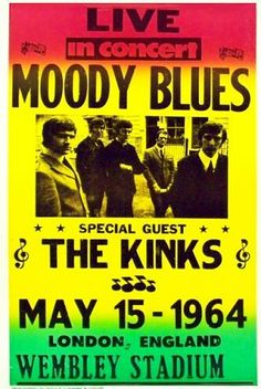 Moody Blues in London England 1964 & The Doors 1967 Concert Poster New Haven Arena CT | Concert ... Pezcame.Com