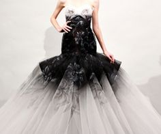 Grey + Black tulle dress #tulle #dress #black and grey