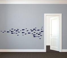 School of Simple Fish Wall Decal Custom Vinyl Art par danadecals