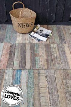 Recycled Teak Floor Tiles - Price per Sq Metre (4 tiles)