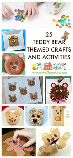 25 Teddy Bear Themed Crafts and Activities - Celebrate National Teddy Bear Day…