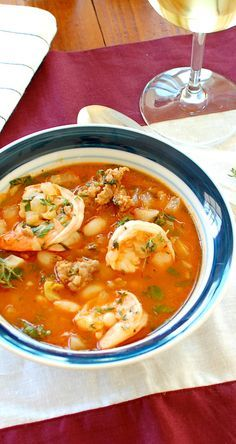 If you are seafood and fish lover, our easy and delicious seafood stew recipes are for you. In today's post, let's discover 20 stew recipes for wonderful meals. From now, you can enjoy taste of seas right at your home instead of having them at restau Fish Recipes, Seafood Recipes, Cooking Recipes, Healthy Recipes, Healthy Meals, Sausage And Shrimp Recipes, Healthy Food, Shrimp Recipes For Dinner, Cooking Kale